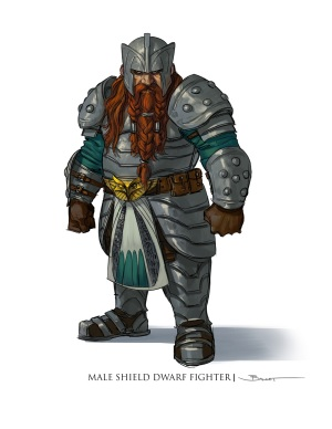 This dwarf frowns at the very thought of excluding him and his fighter brethren from Sword Coast Legends.