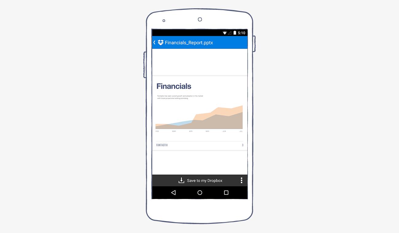 Dropbox-android-links-screenshot