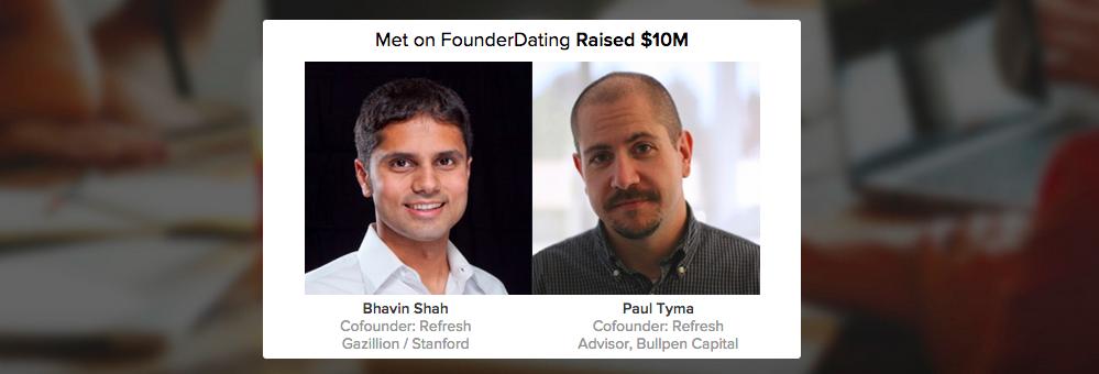 Dating website for entrepreneurs