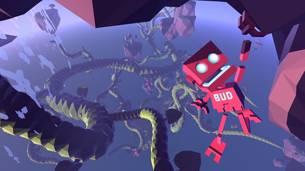 B.U.D.'s adorable personality is expressed entirely in animations rendered in real-time.