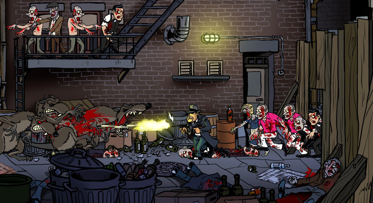 Gangsters meet zombies in Guns, Gore, & Cannoli.