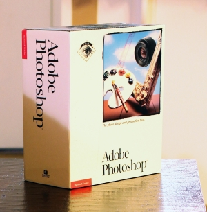 The box for the very first version of Photoshop