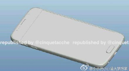This leaked photo shows the profile of the S6, which later leaks claim will be made of metal.