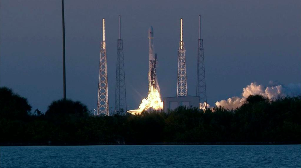 SpaceX's Falcon 9 launching on Feb. 11, 2015.