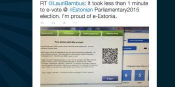 Watch how quick it is to vote in the most advanced democracy on earth, Estonia