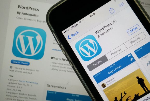 WordPress CMS or Content Management System on Mobile App