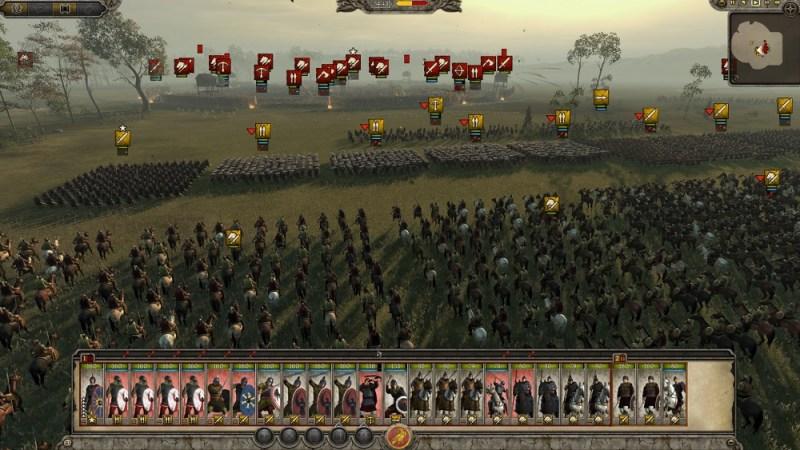 Total War: Attila. A massive battle.