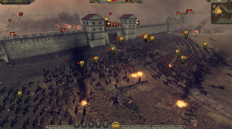 Total War: Attila. Attack on the city gates.
