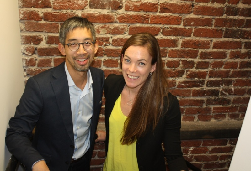 Crowdstar CEO Jeff Tseng and Blair Ethington, head of brands and marketing.