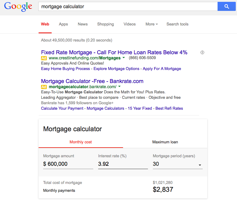 google_mortgage_calculator