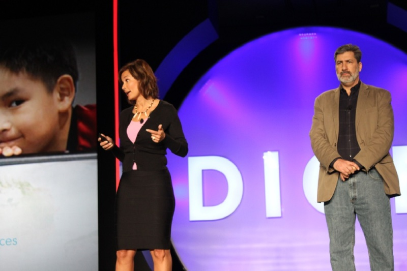 Gloria O'Neill and Alan Gershenfeld, leaders of the Never Alone game.