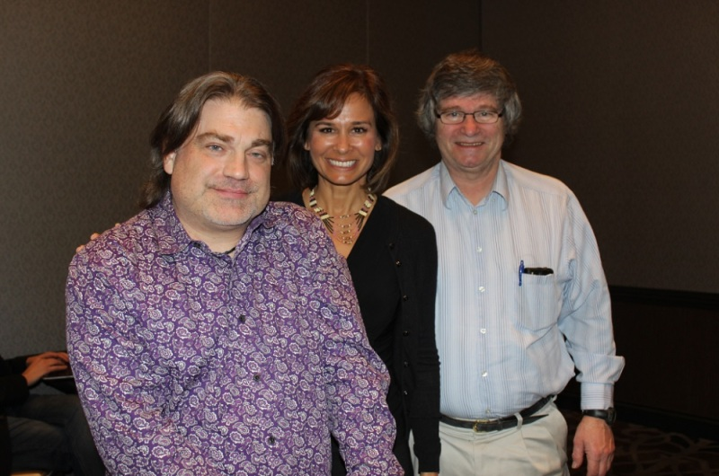 Never Alone leaders Michael Angst of E-Line, Gloria O'Neill and Patt Marrs of the Cook Inlet Tribal Council