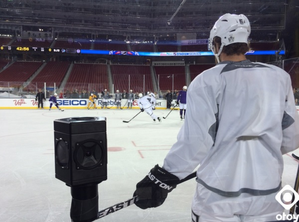 Otoy enables a streamed hockey game in 360-degree virtual reality.