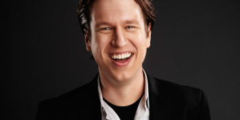 Comedian Pete Holmes takes a gentler approach to hosting the DICE Awards