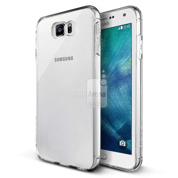 This leaked photo shows the S6 in a plastic protective case.