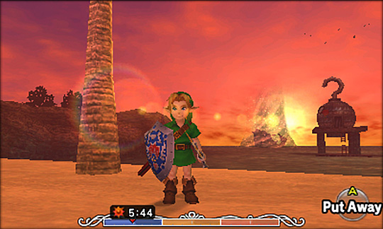 Pictures don't do Majora's Mask 3D justice -- and they don't convey how well the 3D works.