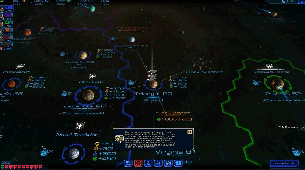 Sid Meier's Starships galaxy map.