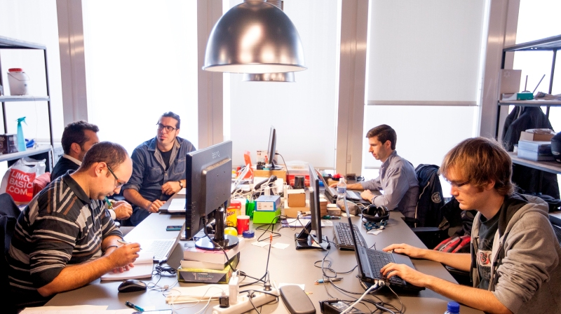 TheThings.iO in their Barcelona office