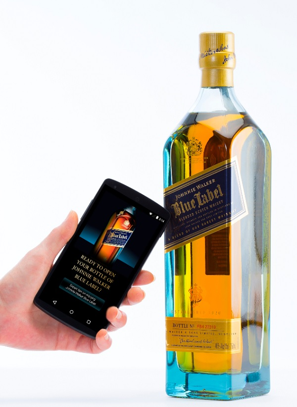 Thinfilm's smart label tells you about your bottle of Johnnie Walker.
