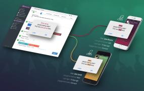 Kahuna's depiction of its platform sending personalized mobile deep links