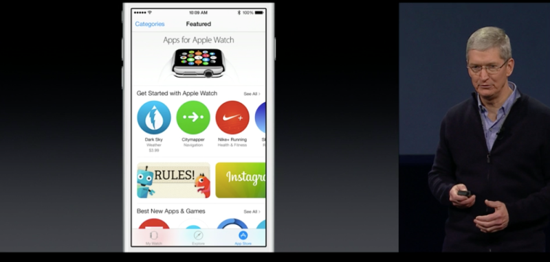 The Apps for Apple Watch category in the App Store.