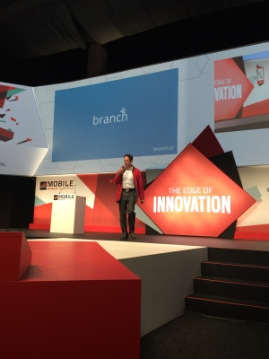 Branch Metrics onstage at MWC.