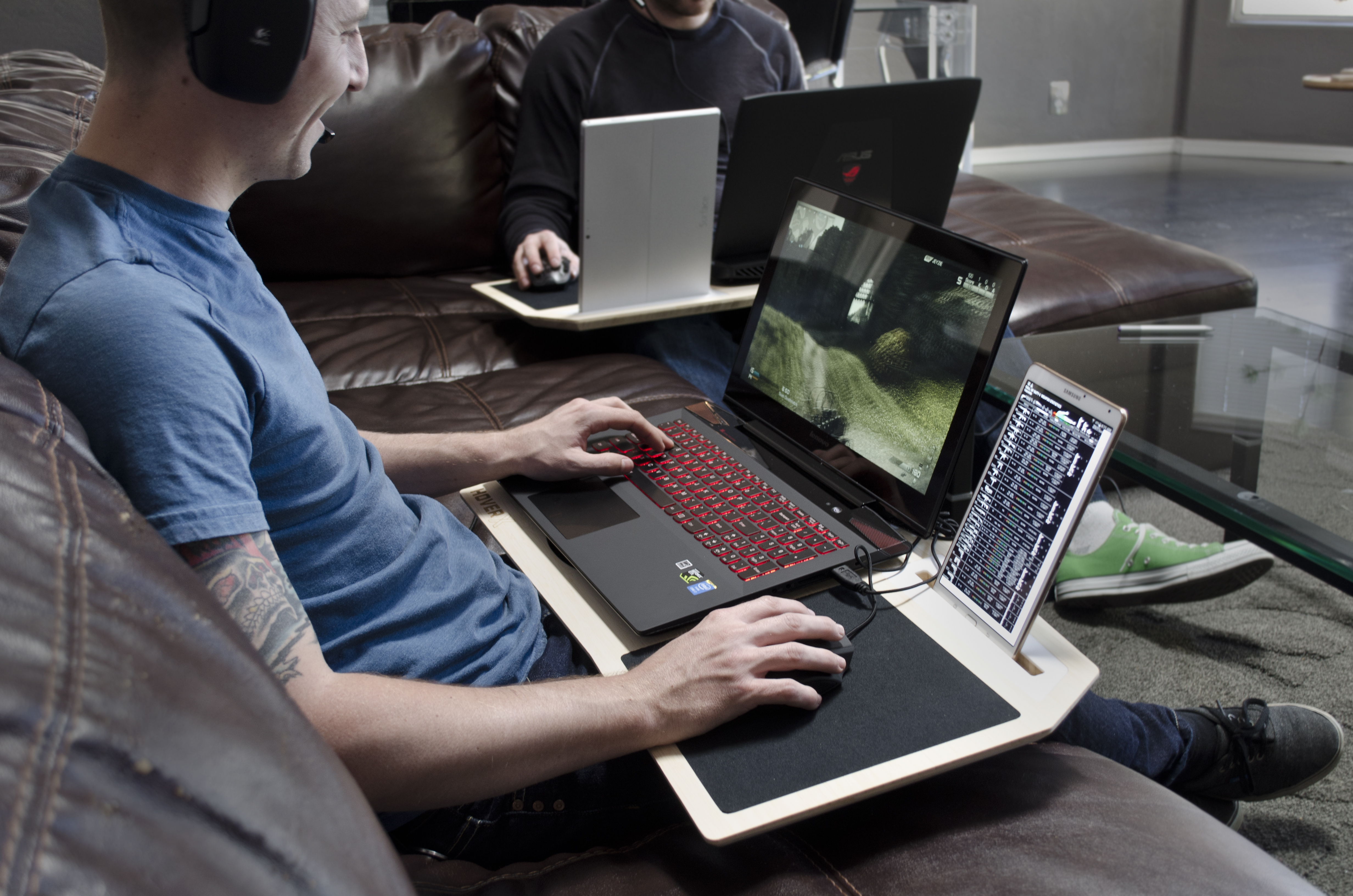 Hover X Is The Crazy Desk That Turns Your Lap And Anywhere You Sit Into A Pc Gaming Space Venturebeat