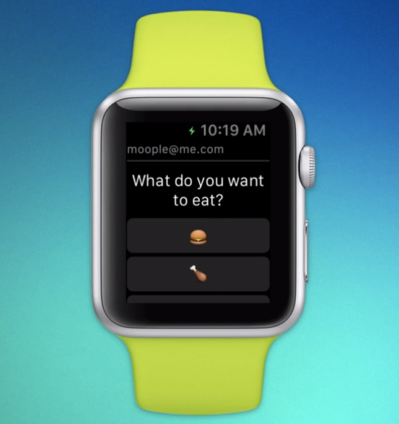 The Dart email app on Apple Watch.