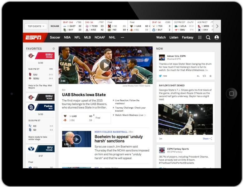 ESPN.com on the iPad