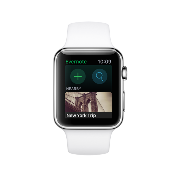 Evernote on the Apple Watch.