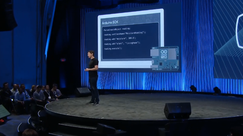 Facebook and Parse exec Ilya Sukhar describes how Facebook can interconnect with Arduino via its new Internet of things SDK.