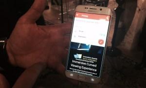 Samsung's S6 in split screen mode.