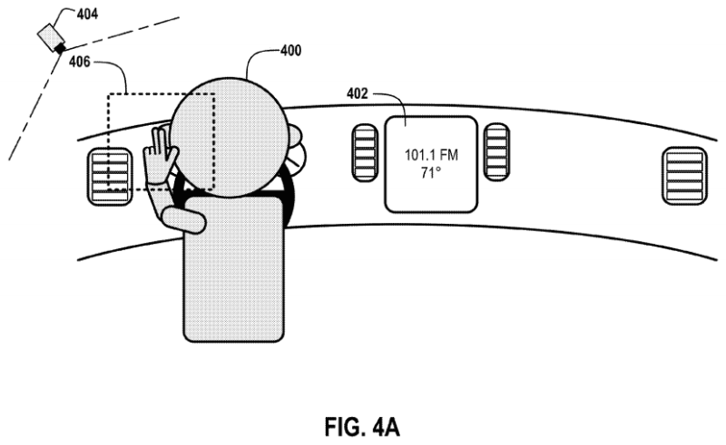 "From the Google patent ""Gesture-based automotive controls."""