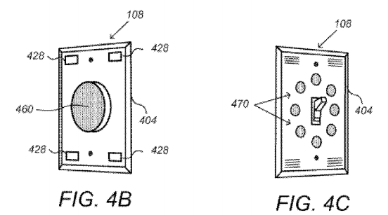 "Google's smart wall switch concept, in the patent application ""Security Scoring in a Smart-Sensored Home."""