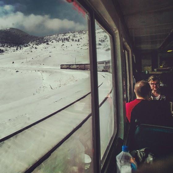 Train Jam's journey from Chicago took it through plenty of snow.