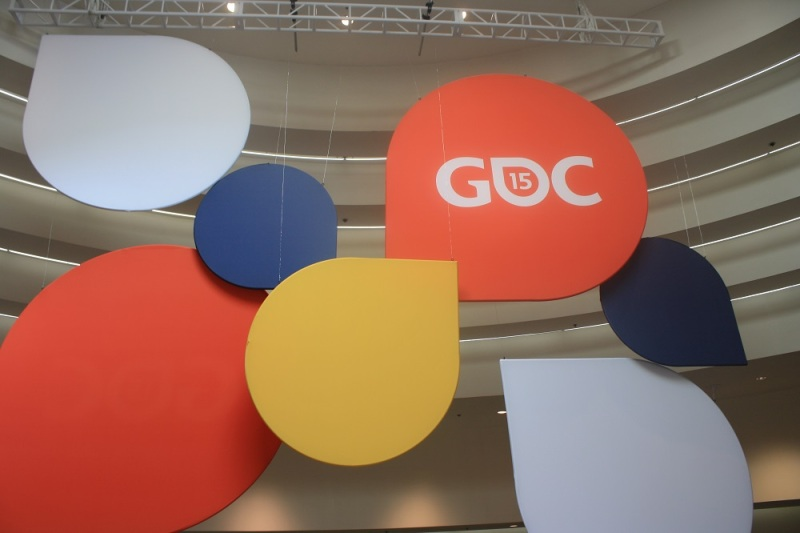 This GDC display greeted attendees moving from registration down to the expo floor.
