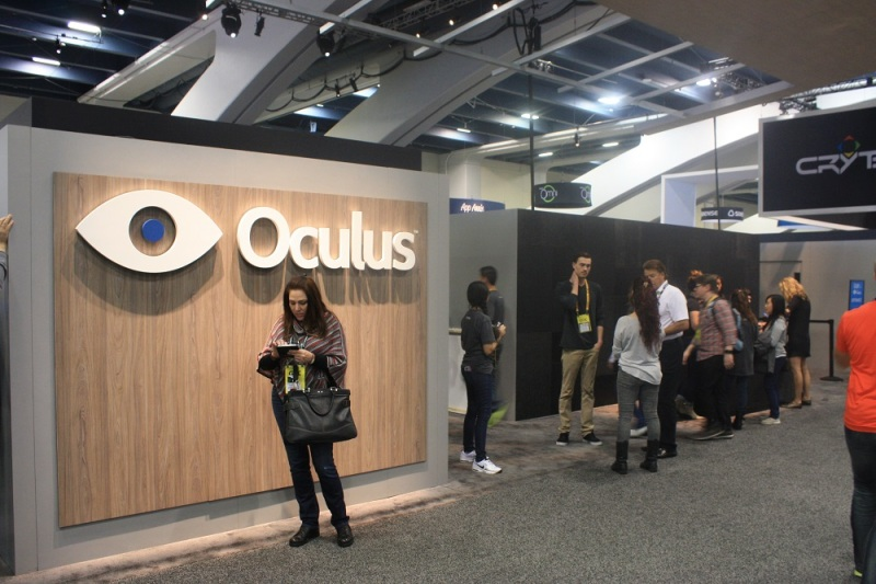 The lines for some of the Oculus Rift VR headset demos stretched around this booth multiple times.