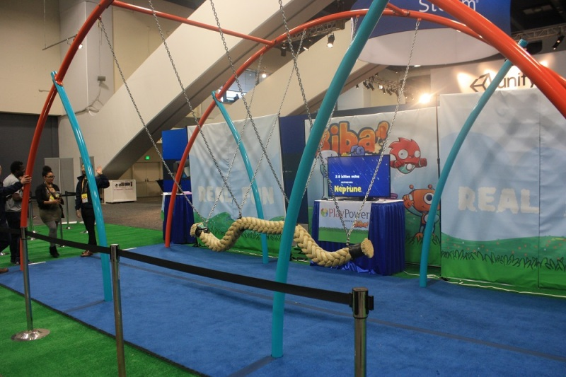 Power Play adorned its Biba display with a walkable rope bridge.