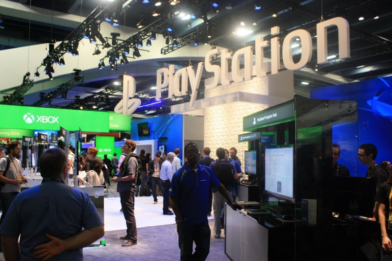 PlayStation's GDC 2015 booth.