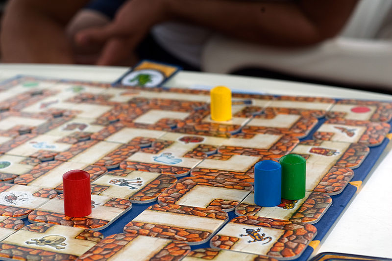 This isn't SwapQuest. It's a really neat board game called Labyrinth.
