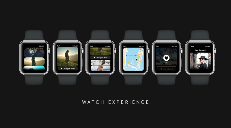 The Looksee app on Apple Watch.