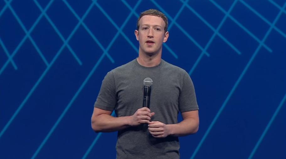 Facebook CEO Mark Zuckerberg at F8, March 2015.