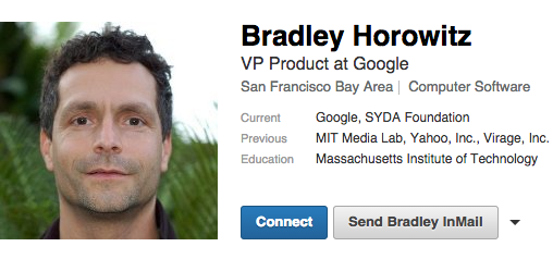 Bradley Horowitz updated his LinkedIn profile.