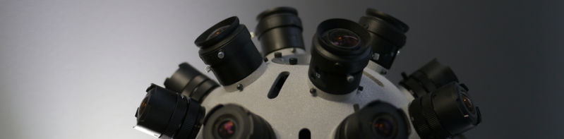 Jaunt VR's 360-degree stereoscopic camera.