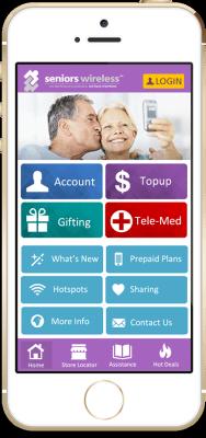 Seniors Wireless screen on iPhone