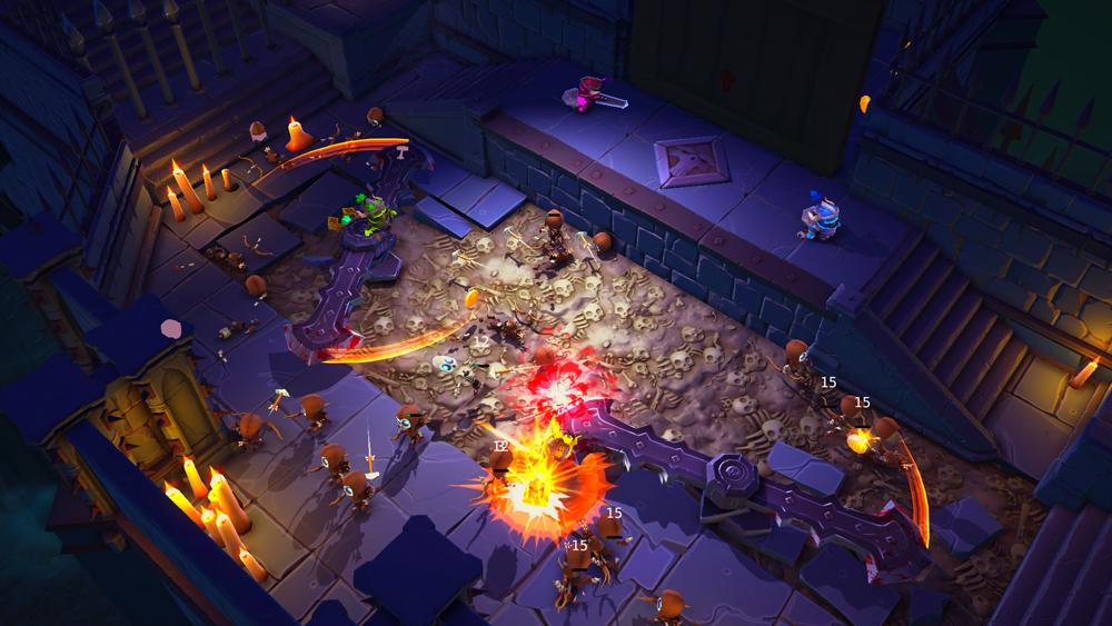 Super Dungeon Bros Trap Battle Room