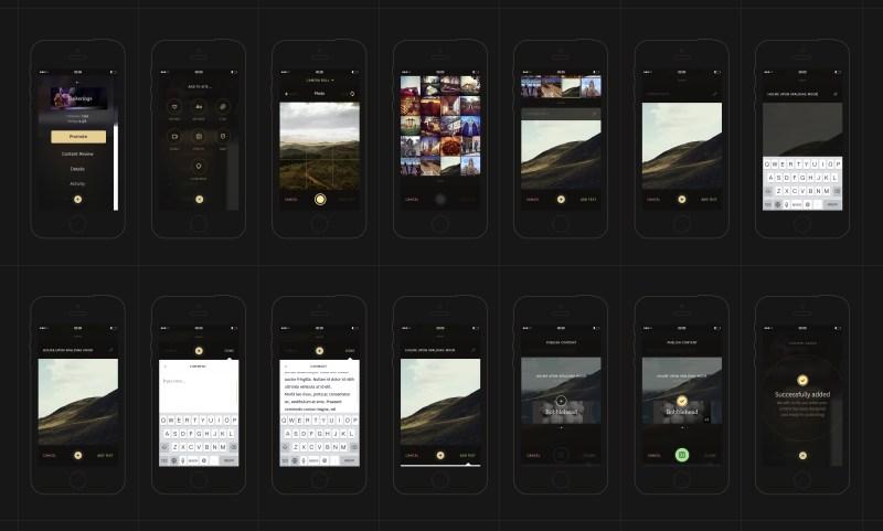 The Grid's iOS app.