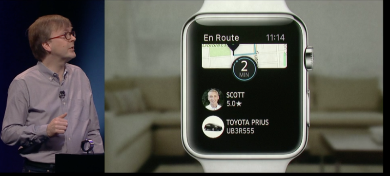 Uber on the Apple Watch.