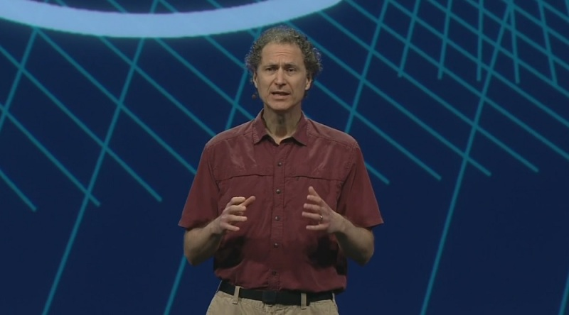 Mike Abrash, chief scientist of Oculus VR, at F8.