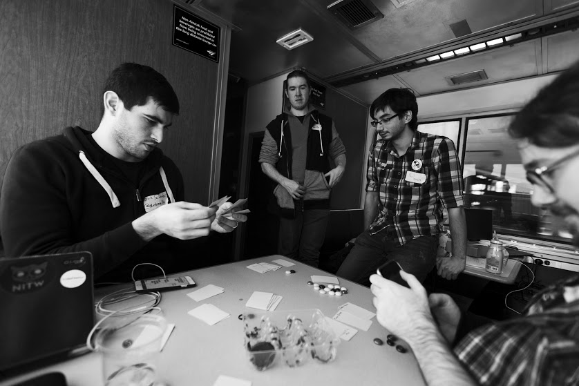 Train Jam attendees are able to exchange ideas, fueling creativity.